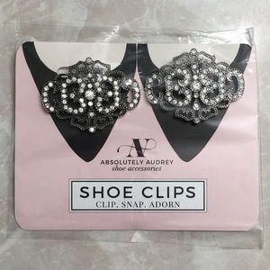 Art Deco Silver/Black Shoe Clips 💃🏻